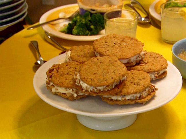 Gina's Oatmeal Cookie Ice Cream Sandwiches from FoodNetwork.com