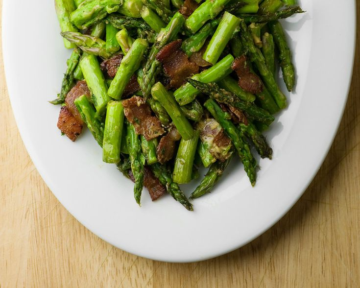 These are a few of my favorite things! Mustard Bacon Asparagus