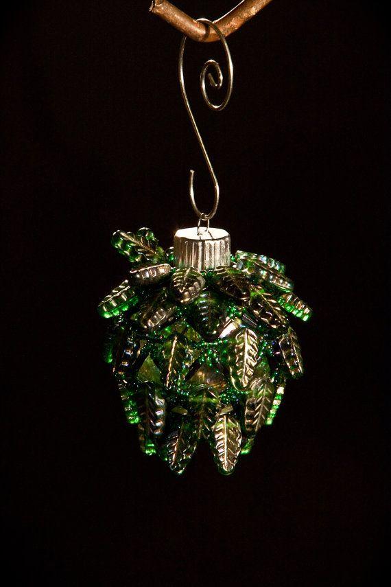 Mediterranean Villa hand beaded Christmas ornament wrap 2.5