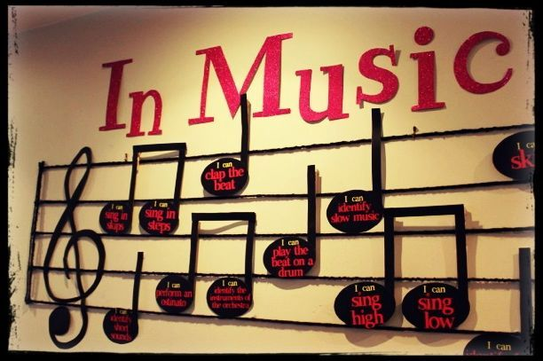 Music Classroom Decoration Ideas : Note able quot i can music standards for bulletin board