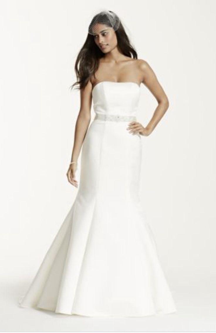 Beautiful David us Bridal Strapless wedding Dress