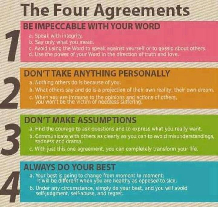 The Four Agreements Books Books And More