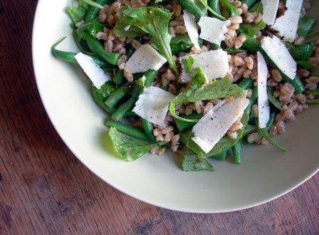 mushroom green bean farro salad roasted mushroom and green bean farro ...