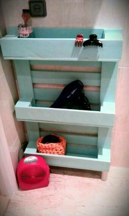Estanterias Para El Baño:Palé estantería para el baño