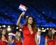 Paraguay's athlete Leryn Franco parades