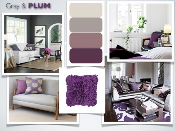 Grey and plum for somer pinterest - Gray and plum living room ...
