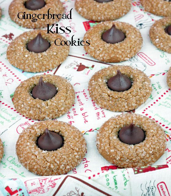 Hershey Kiss Gingerbread Cookies Recipe | Food and drink | Pinterest