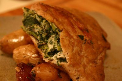Vegan Goat Cheese, Spinach and Sun-Dried Tomato Stuffed Pork Chops ...