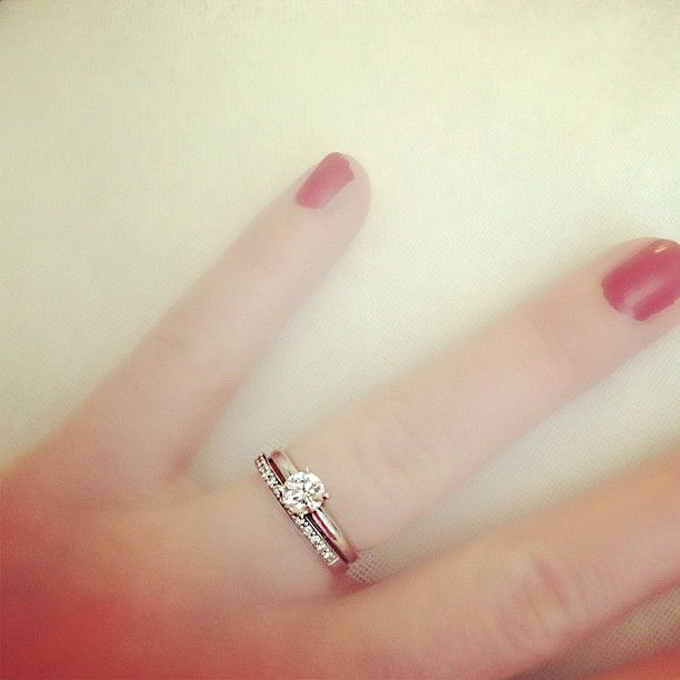 my solitaire engagement ring with band simple and