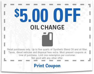 oil change coupon for tires plus