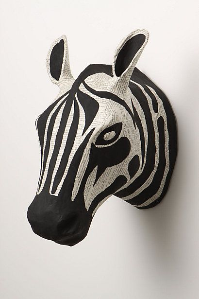 Savannah Story Bust, Zebra. Anthropologie. $68