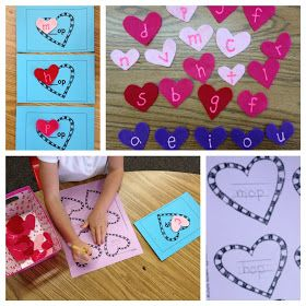 valentine's day kinder art