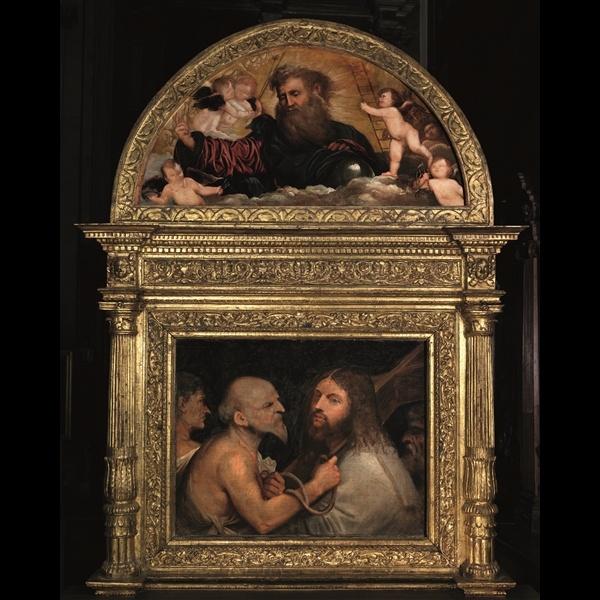 Tiziano Vecellio, Cristo portacroce, 1514 - 1516 ca. Venezia, Scuola Grande di San Rocco
