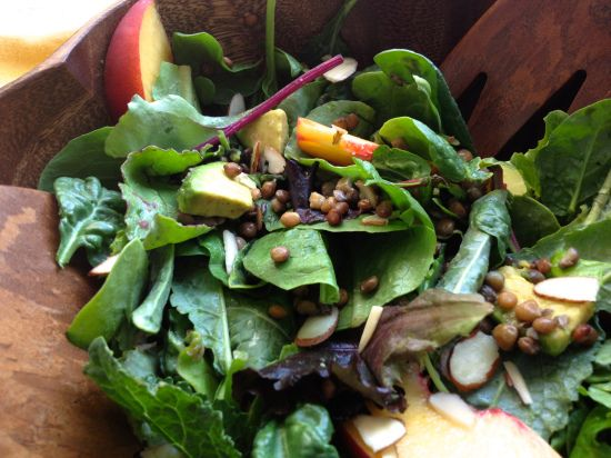 ... Summer Salad via Made to Glow. Based on the Sprouted Kitchen's Mache