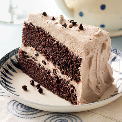 Chocolate Cake With Mint Whipped Cream Frosting