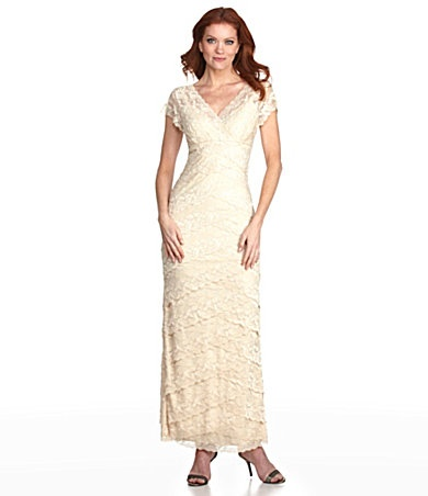marina lace gown dillards vintage inspired wedding