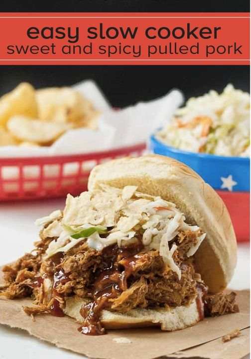 Slow Cooker Sweet and Spicy Pulled Pork | Recipe