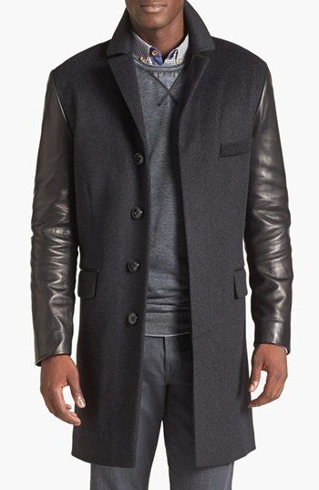 La Marque Mixed Media Coat | Nordstrom