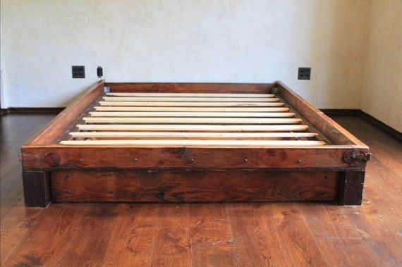 Reclaimed Wood Platform Bed Barn Pinterest