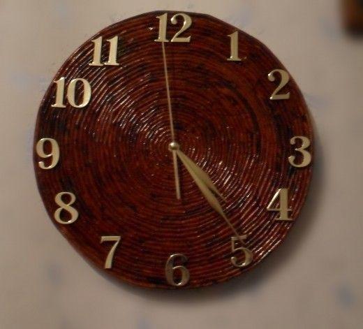 Плетеные часы свои руками 9
