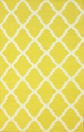 Rugs USA Tuscan Moroccan Trellis Flatwoven Yellow Rug