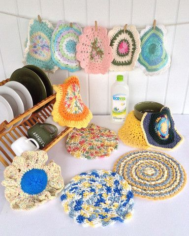 Crochet Patterns In The Round : Picture of Dishcloths In The Round Crochet Pattern Set Maggies