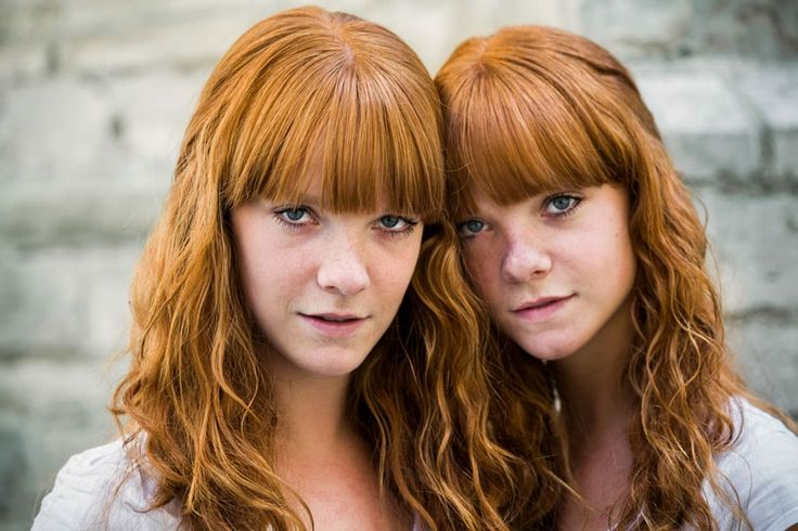Naked red headed twins