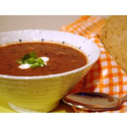 Black Bean and Salsa Soup | Recipe