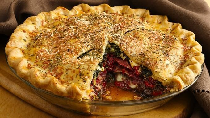 Italian Brunch Torta - This breakfast or brunch pie filled with hearty ...