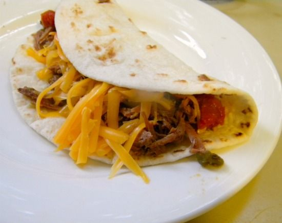Crock Pot Shredded Beef Tacos - made this yesterday - it was Fantastic ...