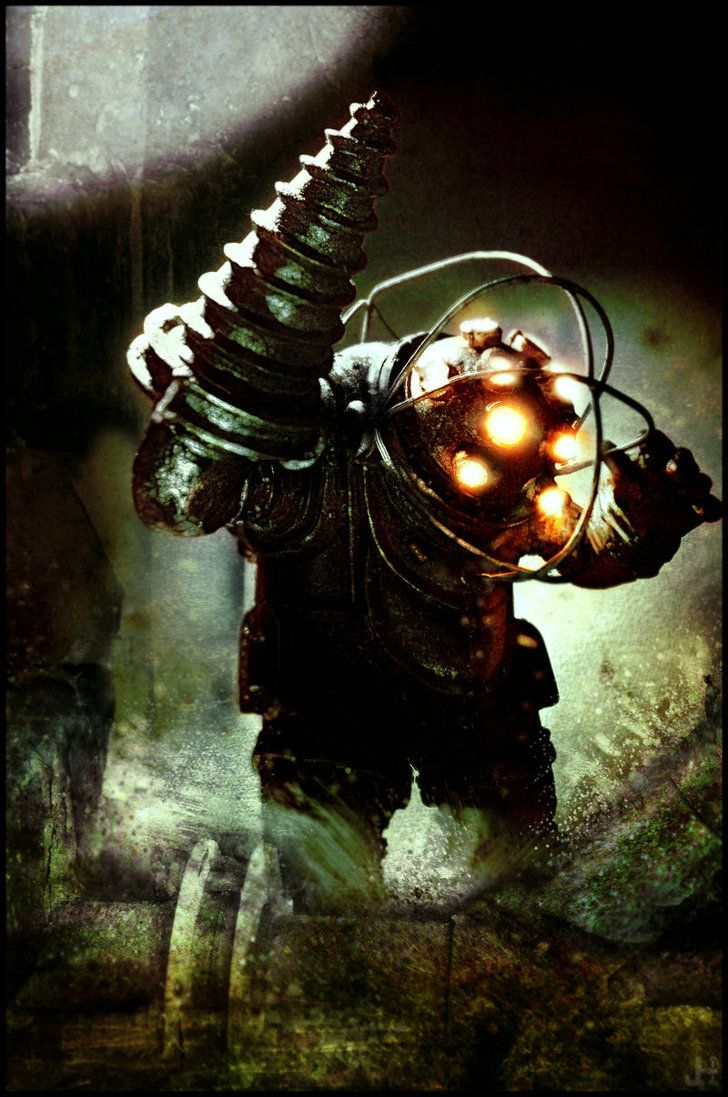 Bioshock big daddy right meow pinterest for Big daddy s antiques