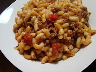 Johnny Marzetti - I used toasted garlic spaghetti sauce; after cooking ...