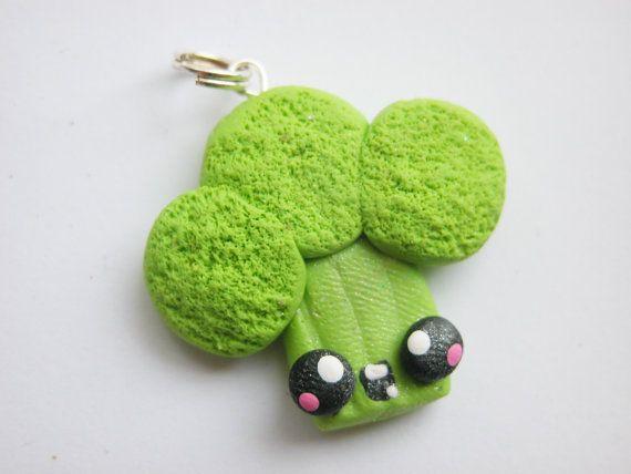Kawaii Broccoli Girl Necklace Pendant Polymer Clay Pendant - Chain NO ...