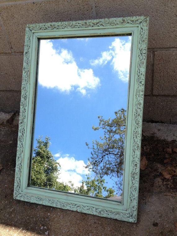 ornate wood metal medicine cabinet mirror shabby chic