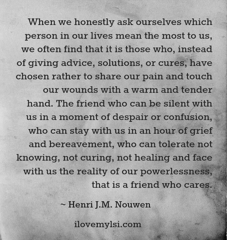 henri nouwen on friendship quotes quotesgram
