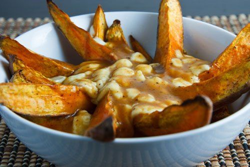 Sweet Potato Poutine...I think we need to have these as a staple ...
