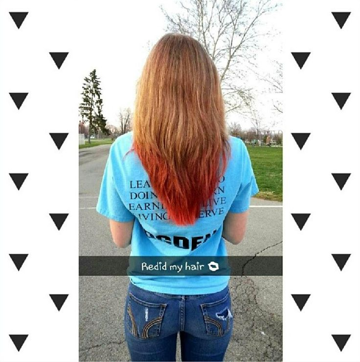Strawberry blonde hair with red tips | Things | Pinterest