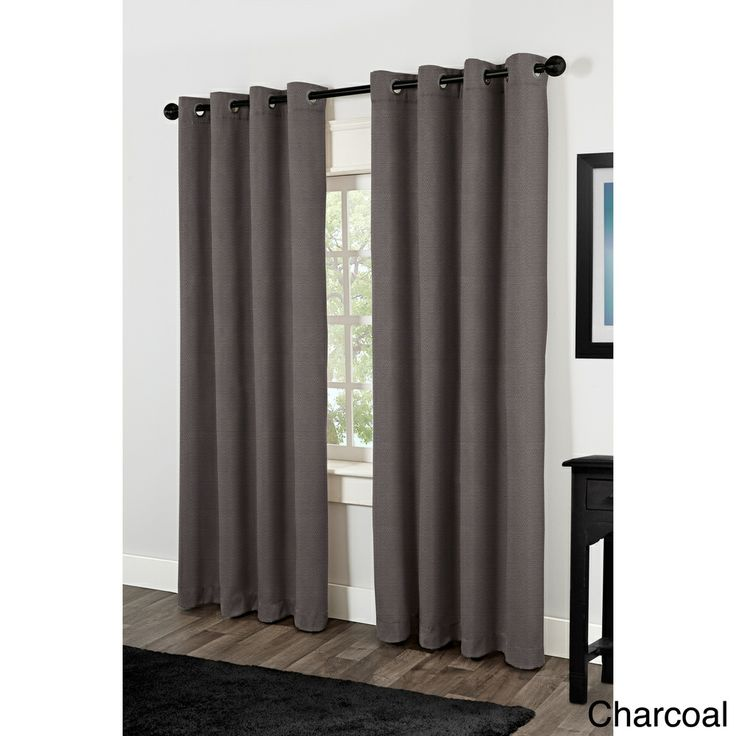 Villamora Thermal Insulated Grommet Top 84 inch Curtain Panel Pair ...