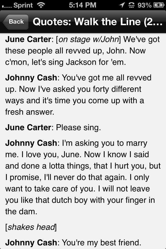 Walk the Line quotes  ...
