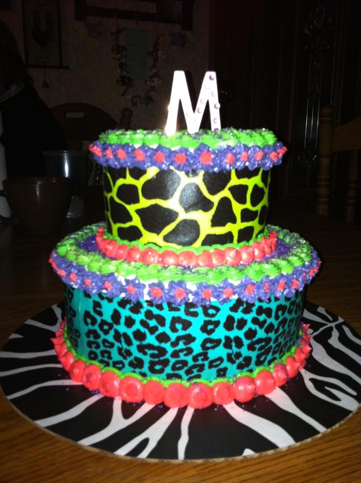 Animal Birthday Cake Ideas 117793 Animal Print Birthday Ca