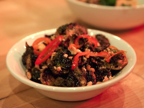 Brussels sprouts at Chuko: The sprout halves are fried before they're ...
