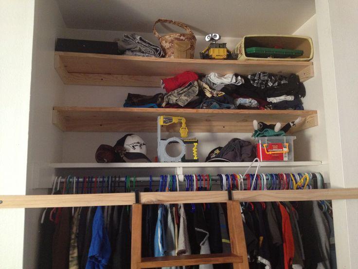 Extra storage kiddo s closet guest bedroom ideas pinterest