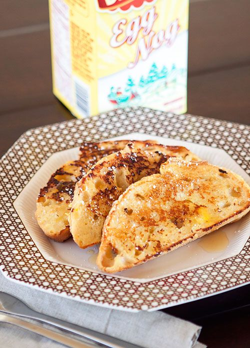 Egg nog french toast....any excuse to buy egg nog!