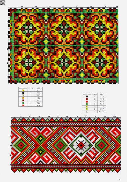 Ricamo схемы для вышивок