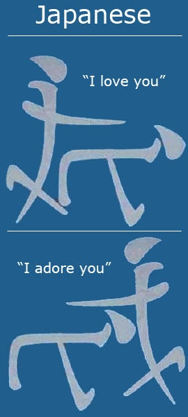 I Adore You In Japanese I love / adore you in ...