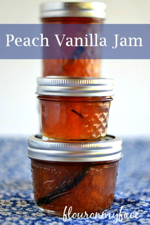 peach jam, easy peach vanilla jam, Ball Jam maker recipe, peach ...