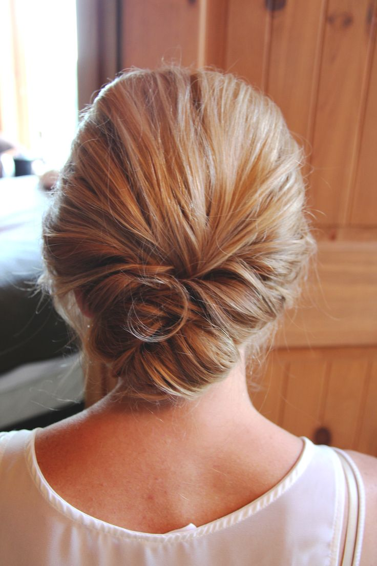 lucille ball hairstyle : Loose low updo HBM Studios My wedding Pinterest