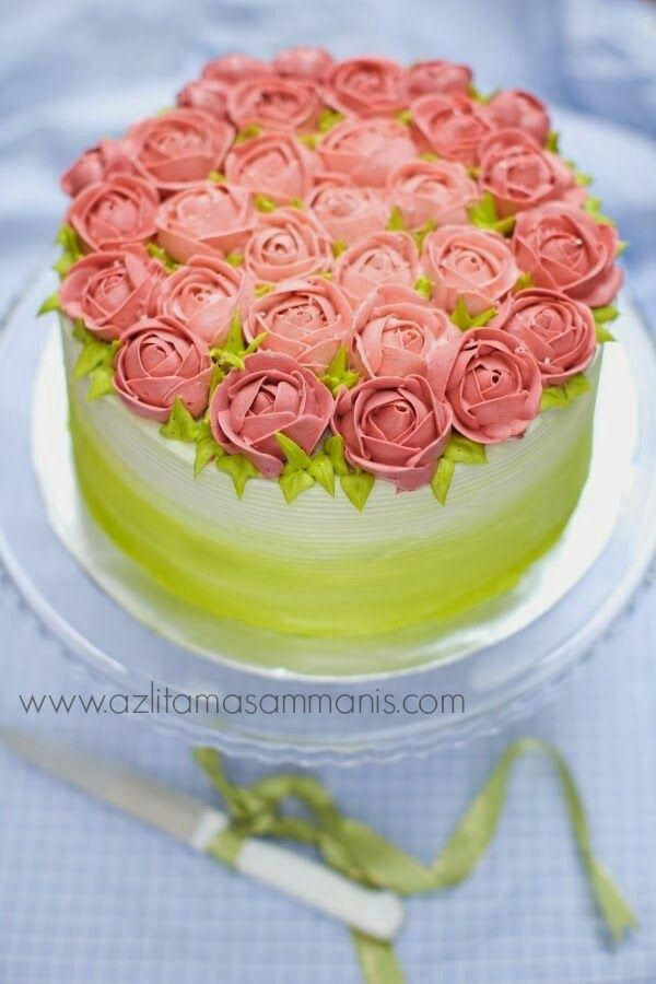 Pin Rose And Orchid Corsage Cake on Pinterest