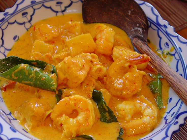 Thai Coconut Red Curry with Shrimp. This is MY kind of comfort food.
