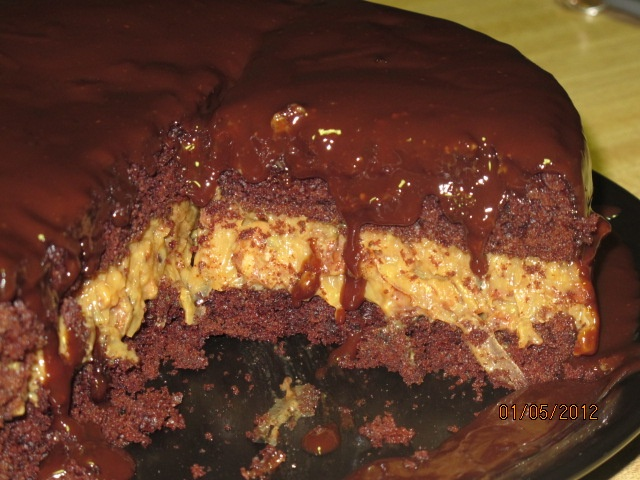 Inside out German Chocolate Cake | Recipes to Try | Pinterest
